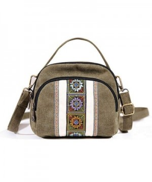 Goodhan Embroidery Canvas Crossbody phone