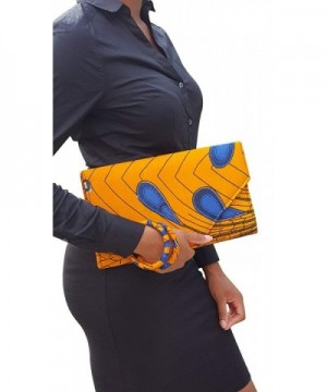 Peacock African Print Clutch Purse