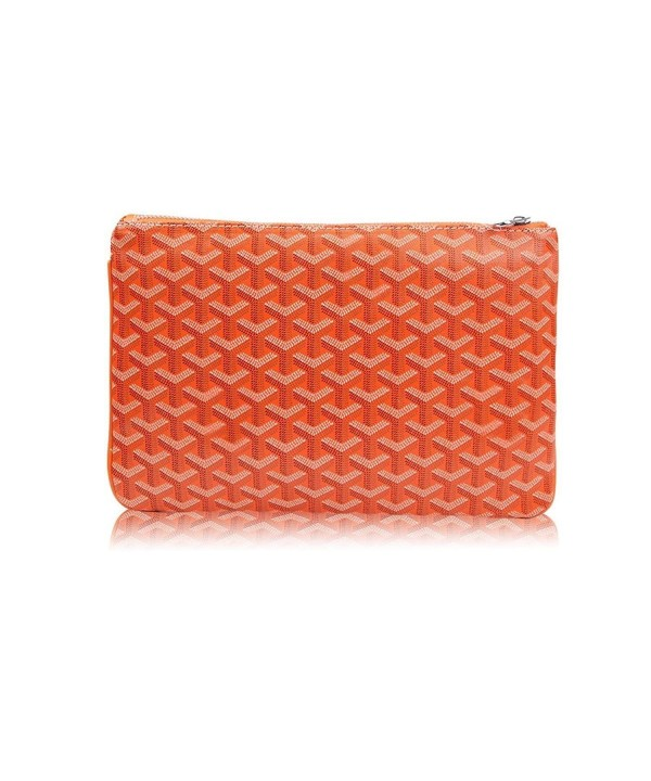 82ea4553c5aa Designer Clutch Purses for Women- Pu Envelope Fashion Clutch Bag- Women  Handbag - Orange - CN18GAYSAR2