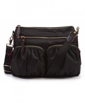 Korvara Nylon Crossbody Bag Black