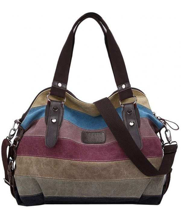 COOFIT Stripe Leisure Canvas Handbags