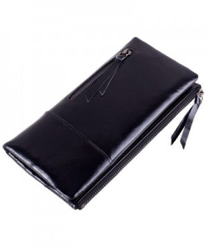 Womens Capacity Genuine Leather Clutch