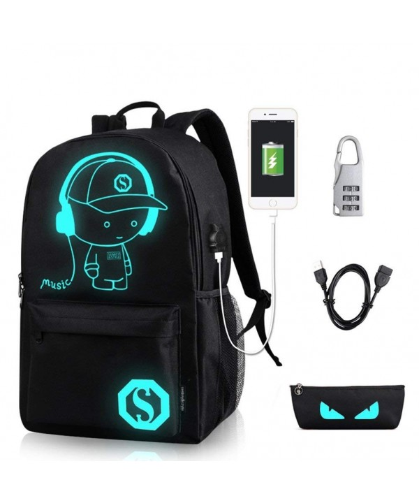 YYCB Luminous Backpack Noctilucent chargeing