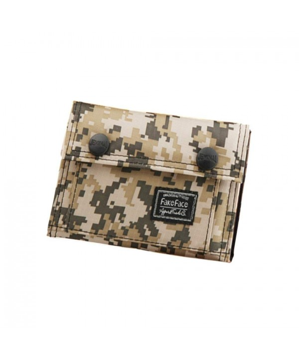Casual Camouflage Trifold Wallet Holder