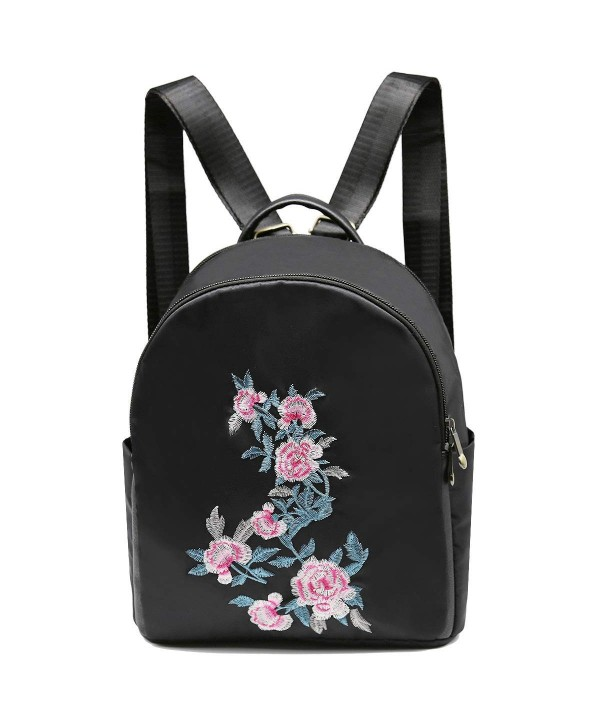 Backpack Women Embroidered Traveling Bookbag