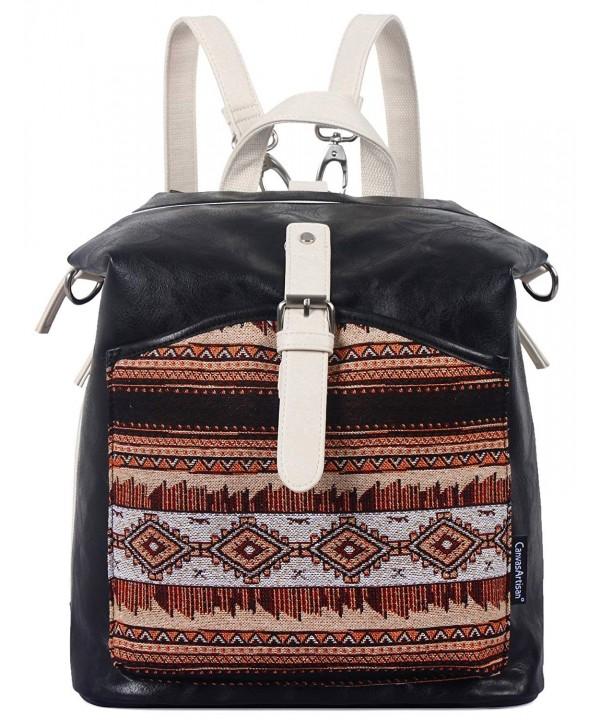 ArcEnCiel Leather Backpack Schoolbag Daypack