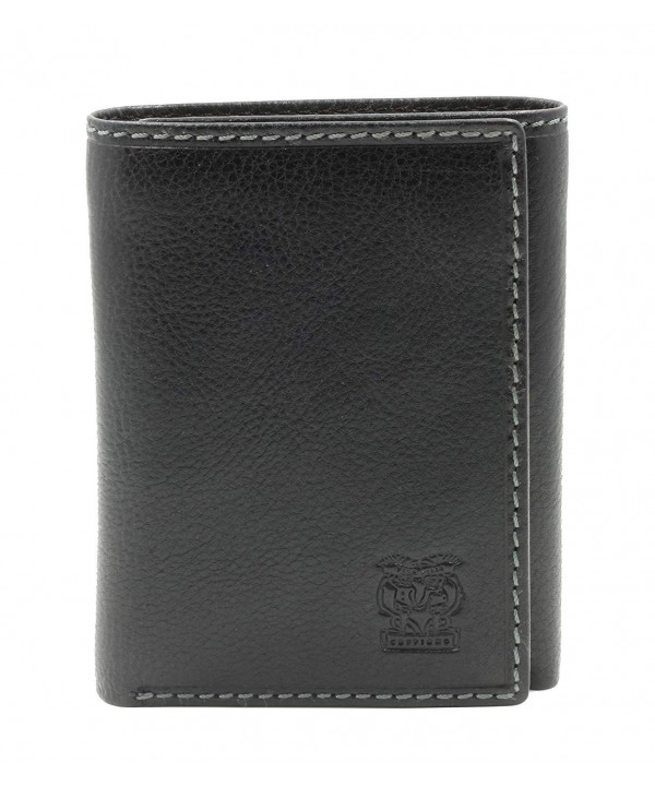 CAPPIANO Leather Credit Section Tri fold