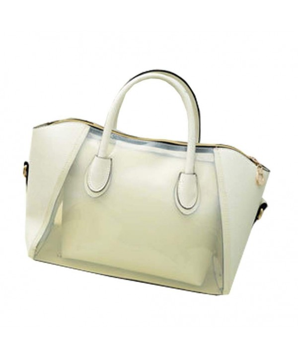 Womens Transparent Handbag Shoulder Satchels