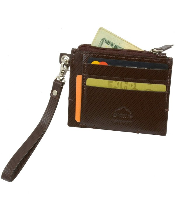 Alpine Swiss Wristlet Leather Cordoba