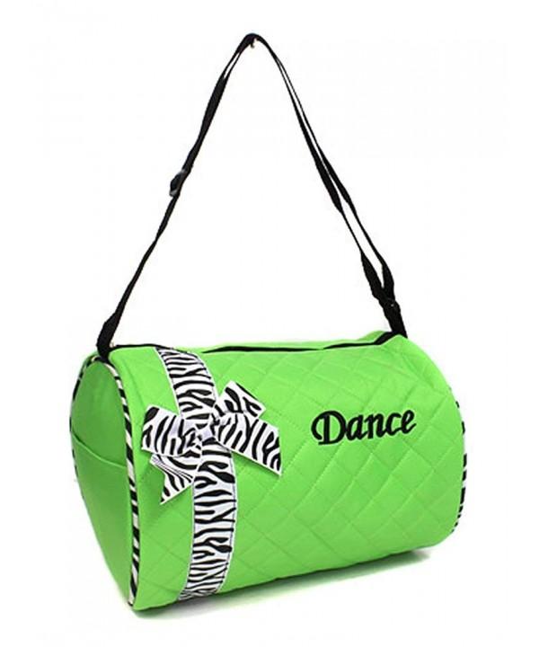 Girls Dance Duffel Zebra Print