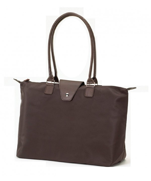 Fold Up Tote Handle Chocolate Brown