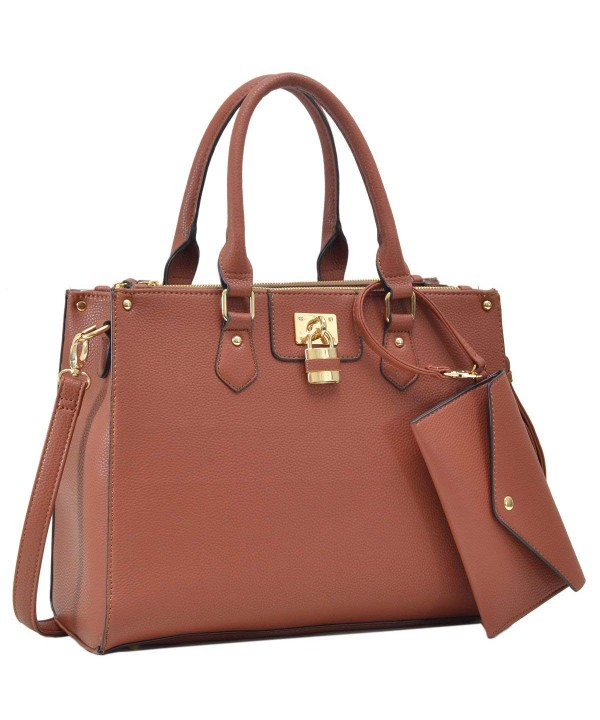Dasein Designer Leather Satchel Shoulder