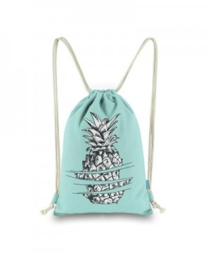 Miomao Drawstring Backpack Sackpack Pineapple