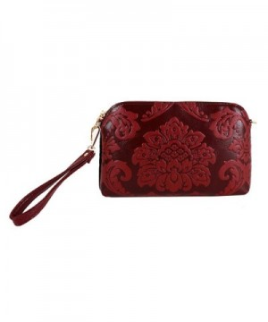 Goodbag Boutique Embossed Wristlets Crossbody