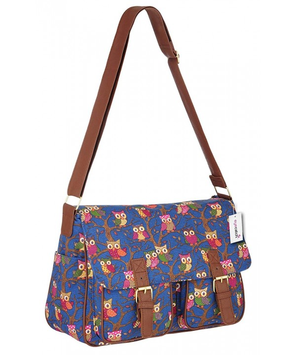Womens Canvas Satchel Messenger Shoulder