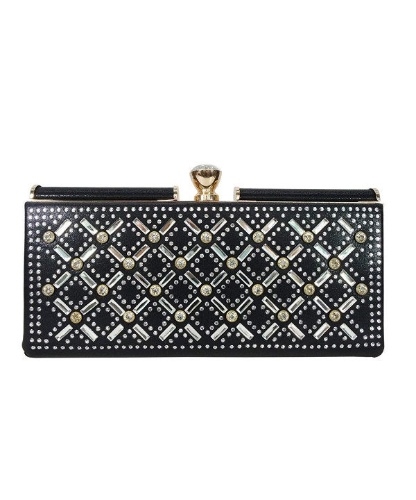Satispac Womens Rhinestones Point Clutch