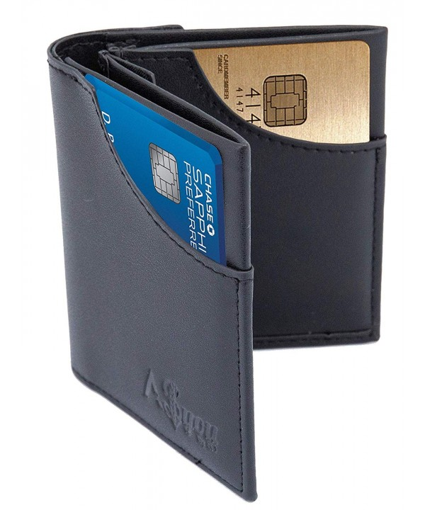 Wallet Blocking Compact Pocket Leather