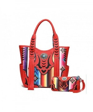 Cowgirl Trendy Multi Striped Concealed Handbag