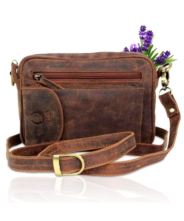 Leather Shoulder Organizer Crossbody Handmade