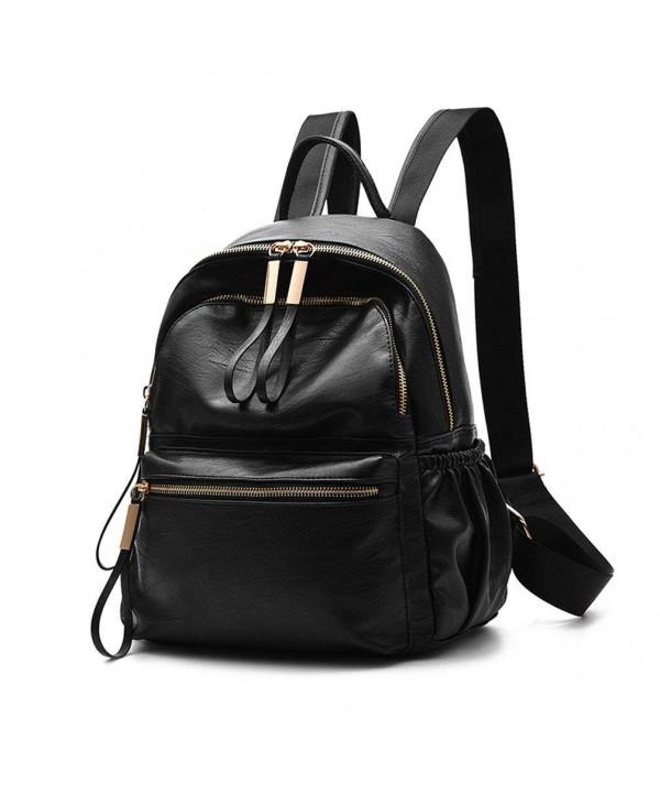 Wraifa Waterproof PU Leather Backpack