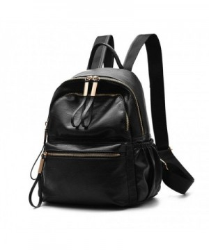 Wraifa Waterproof PU Leather Backpack