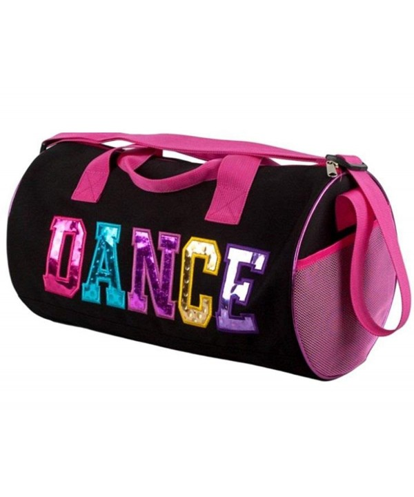 Black Fuchsia Dance Duffel Multicolored