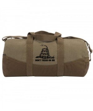 Tread Rattlesnake Canvas Duffel Bottom