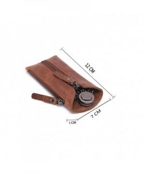 HYSENM Genuine Leather Key Case Holder Car Key Case Key Pouch Card Case