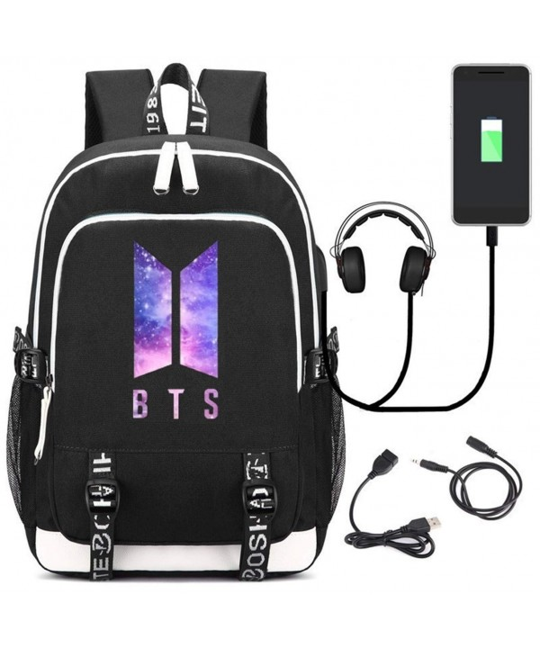 JUSTGOGO Bangtan Backpack Daypack Charging