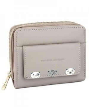UTO Womens Leather Zipper Wallet