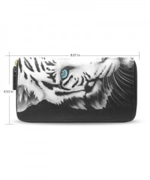 Womens Tiger Leather Wallet Holder