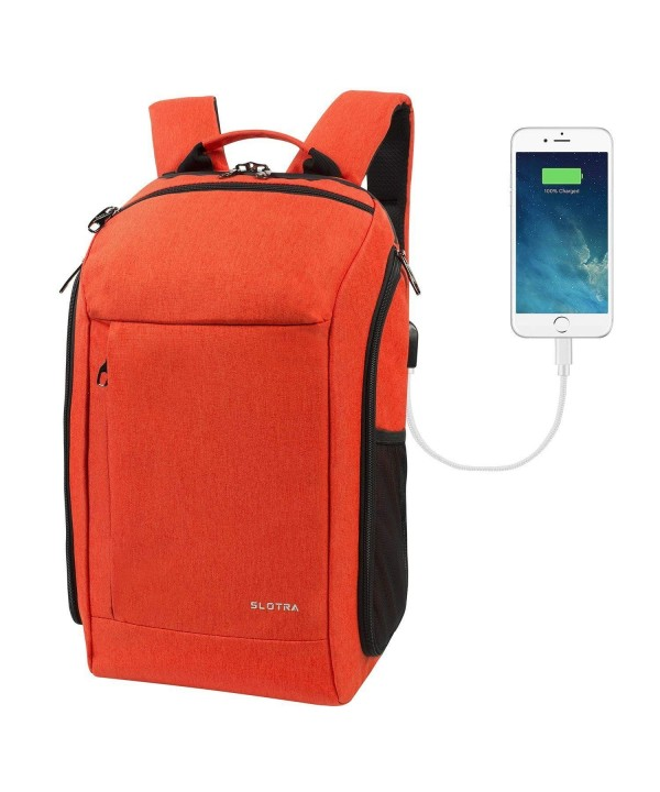 SLOTRA Backpack Approved Charging Backpack Orange