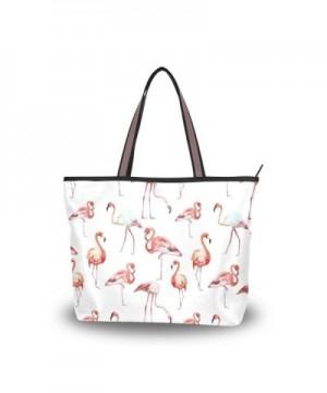 JSTEL Handle Shoulder Flamingo Handbag