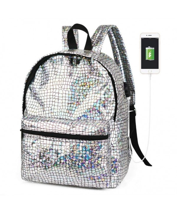 Diamond Lattice Hologram Backpack Daypack