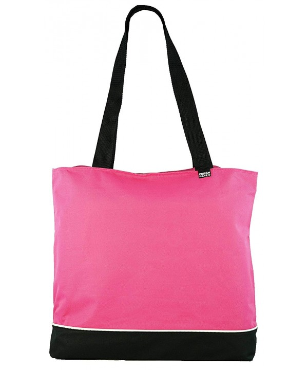 Shoulder Tote Bag Zipper Raspberry