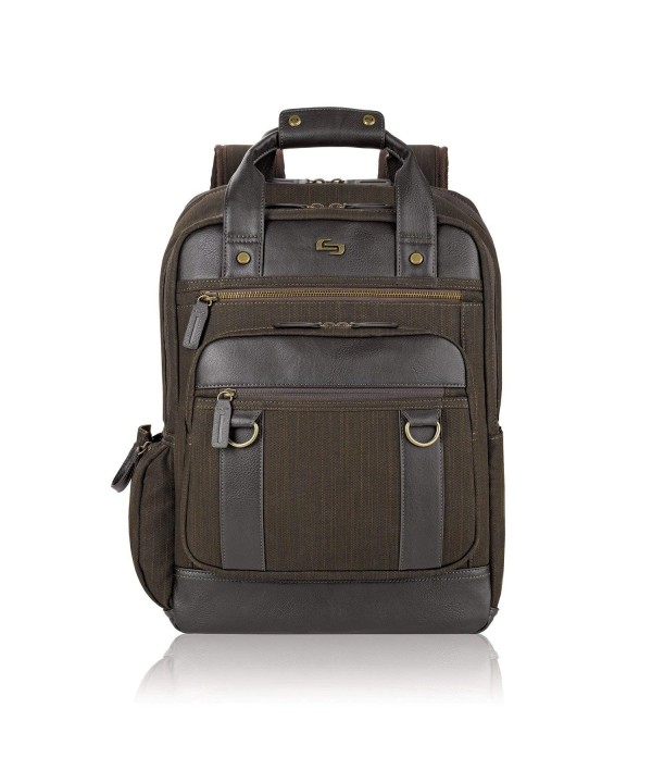 Crosby Backpack Padded Compartment Brown