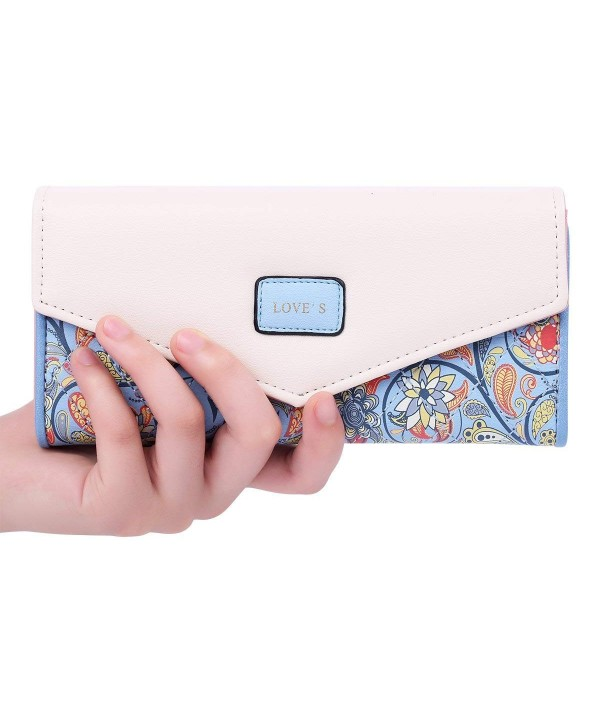 Jastore Womens Envelope Leather Wallet