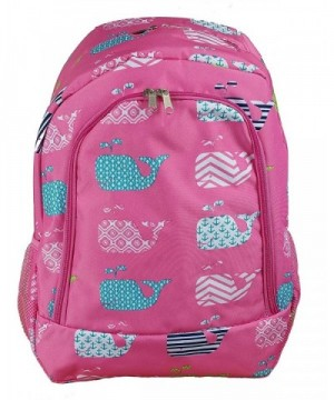 27 P Trendy Whale Pattern Backpack