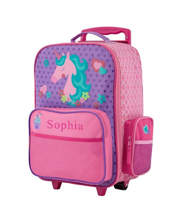 GiftsForYouNow Unicorn Personalized Rolling Luggage