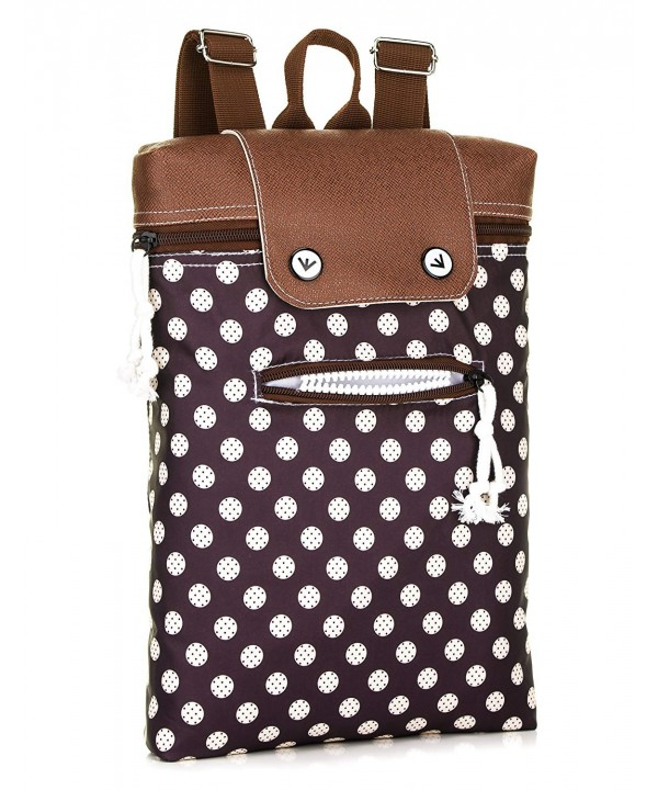 Nylon Monster BackPack Polka Purple