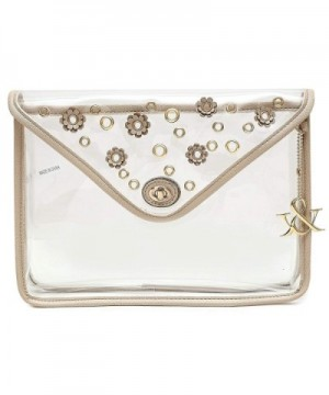 Hue Ash Transparent Clear Clutch