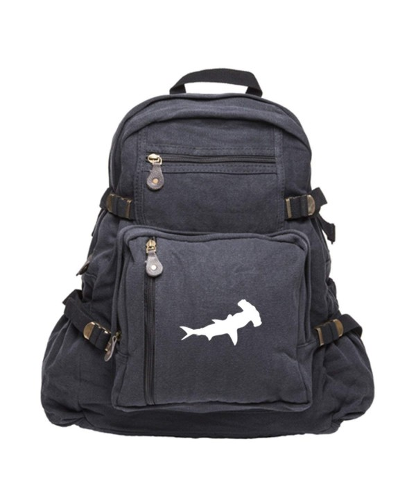 Hammerhead Shark Canvas Backpack Bag