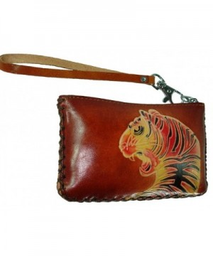 Leather Rectangle Pattern Embossed Closure