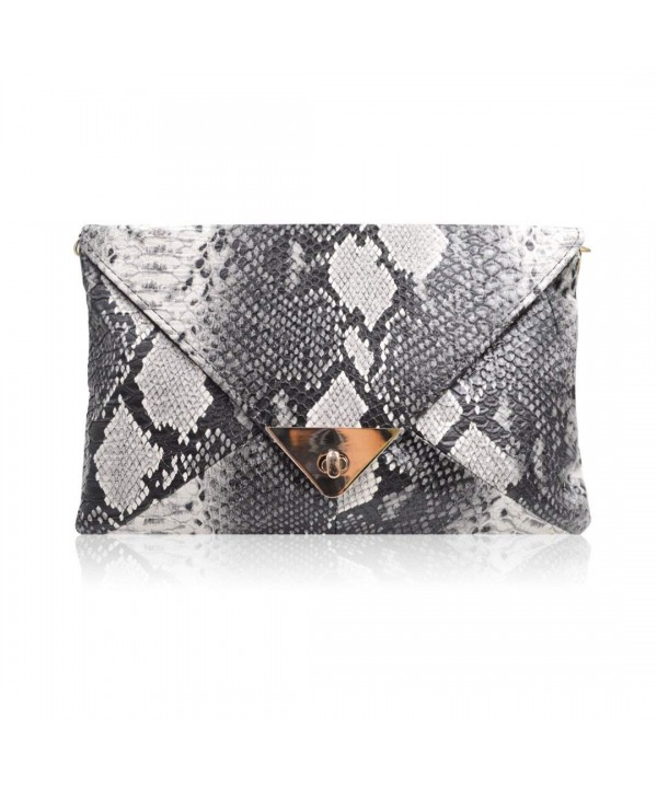 Messenger Shoulder Handbag Purse Snakeskin Envelope