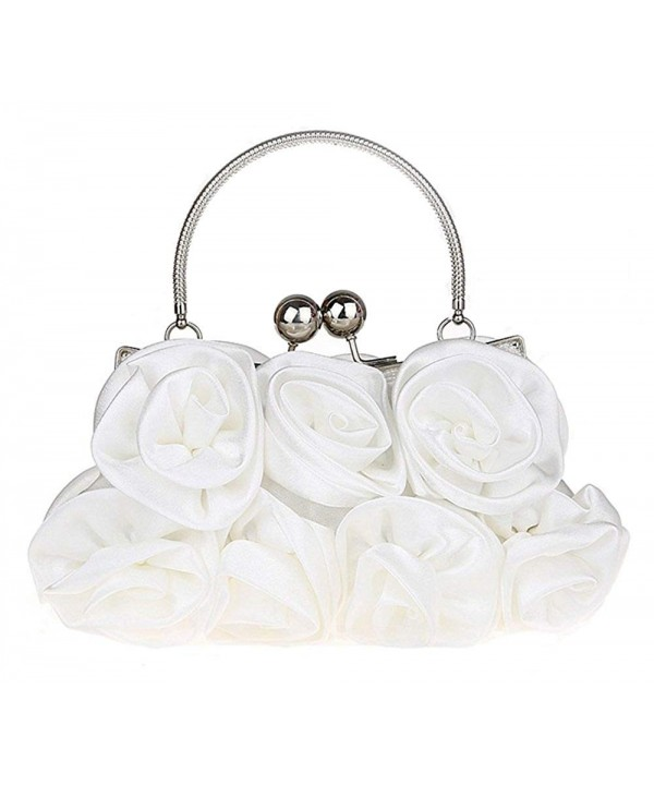 Womens Evening Bag Satin Roses