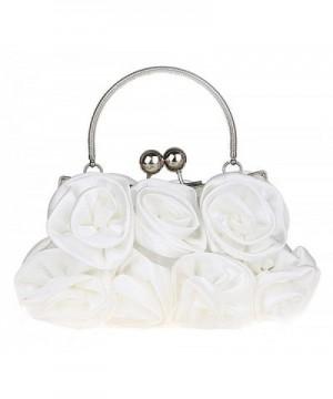 Womens Evening Bag Satin Roses