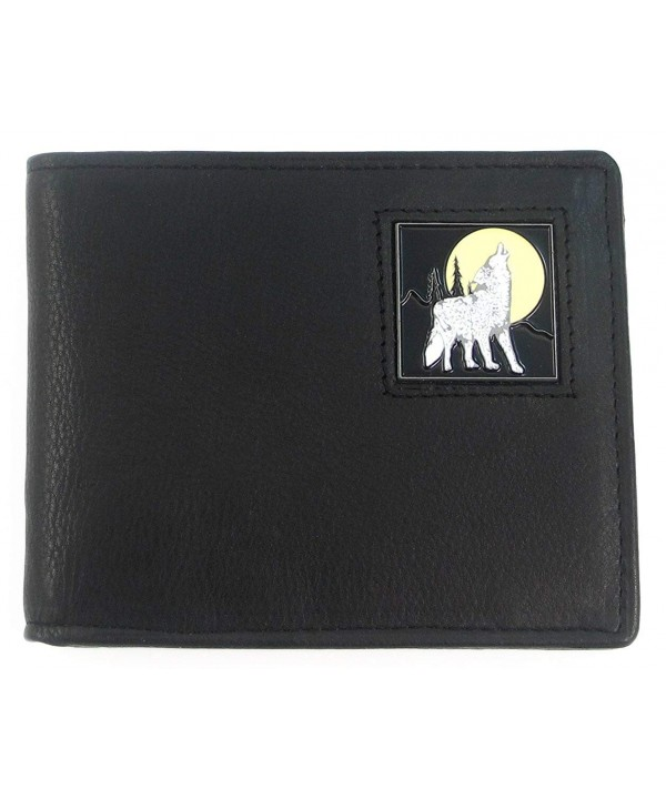 BIFOLD Howling Wolf Leather Bifold Wallet