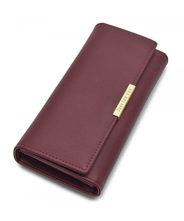Leather Trifold Holder Wallet Elegant