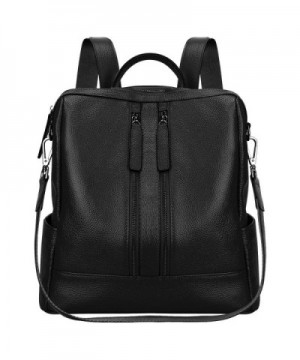 S ZONE Genuine Leather Backpack Shoulder
