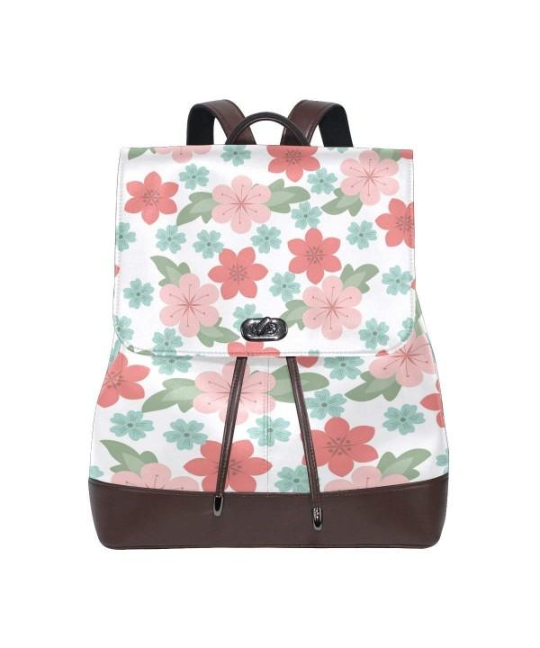 Womens Leather Backpack Blossom Shoulder